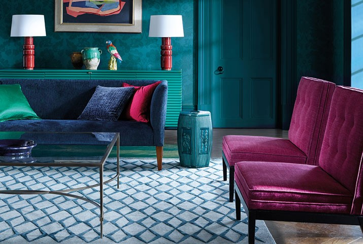 Damask Wallpaper collection by Zoffany from Fabric Gallery and Interiors