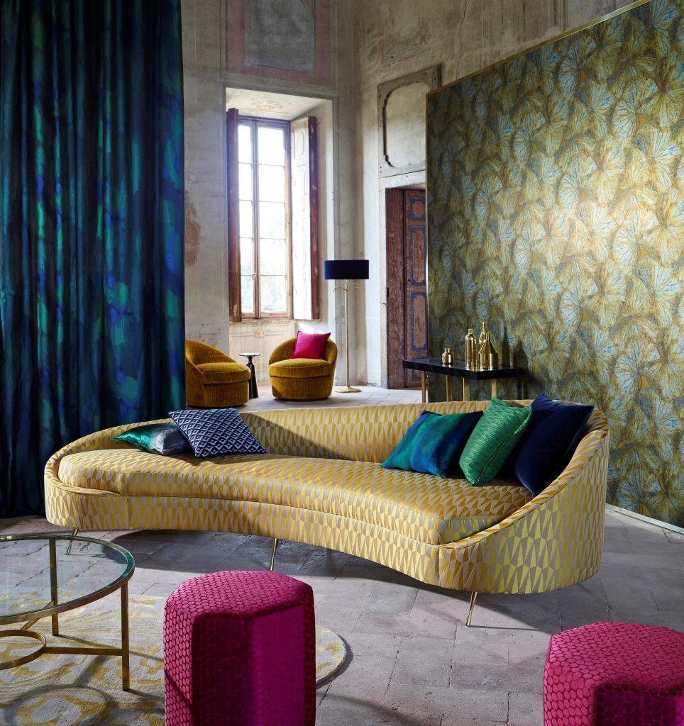 The Muse fabrics by Zoffany available from Fabric Gallery and Interiors
