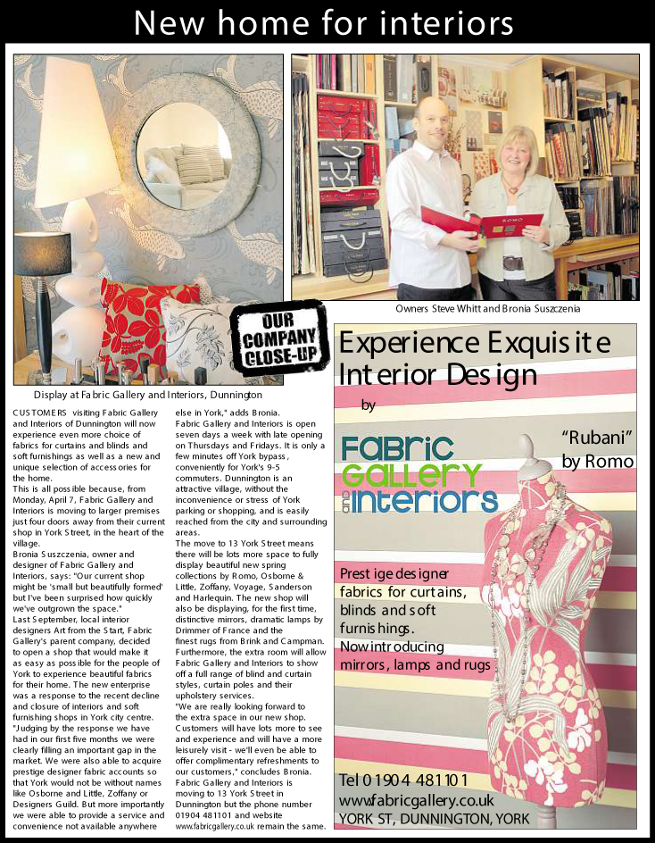 Read our Company close up from the York Press