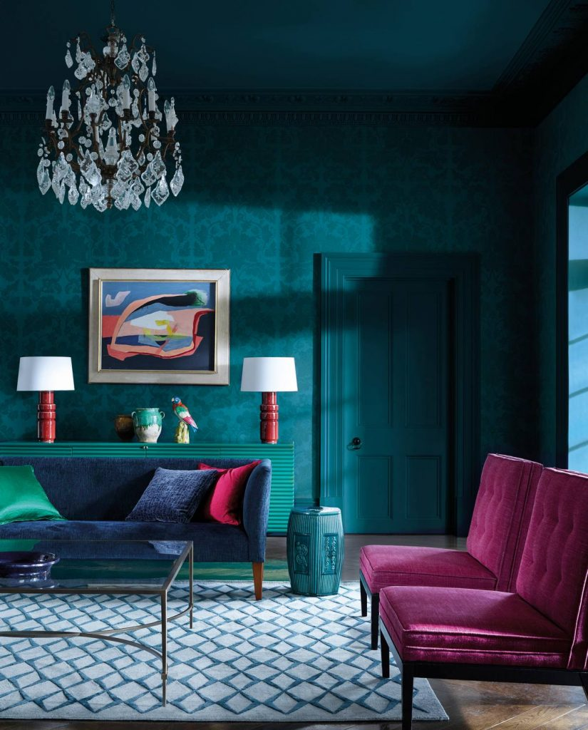 Damask Wallpapers by Zoffany available from Fabric Gallery and Interiors