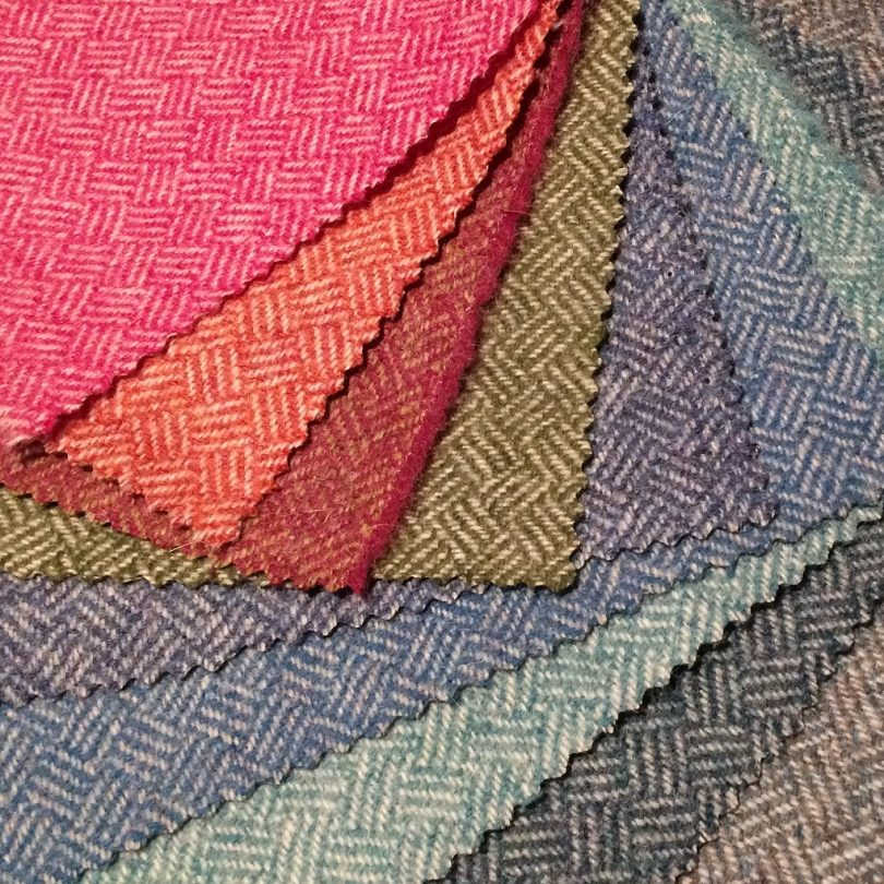 Abraham Moon Parquet fabric swatches