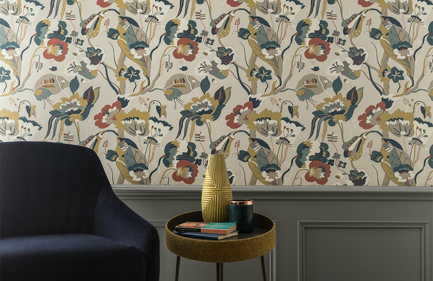 GP&J Baker Signature Wallpaper available from Fabric Gallery and Interiors