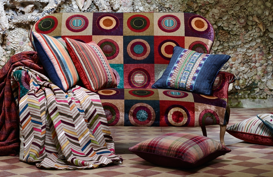 Mulberry Home Festival Collection available from Fabric Gallery and Interiors
