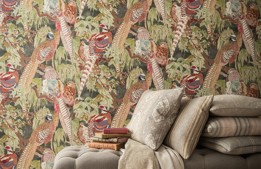 Mulberry Home Modern Country Wallpaper available from Fabric Gallery and Interiors