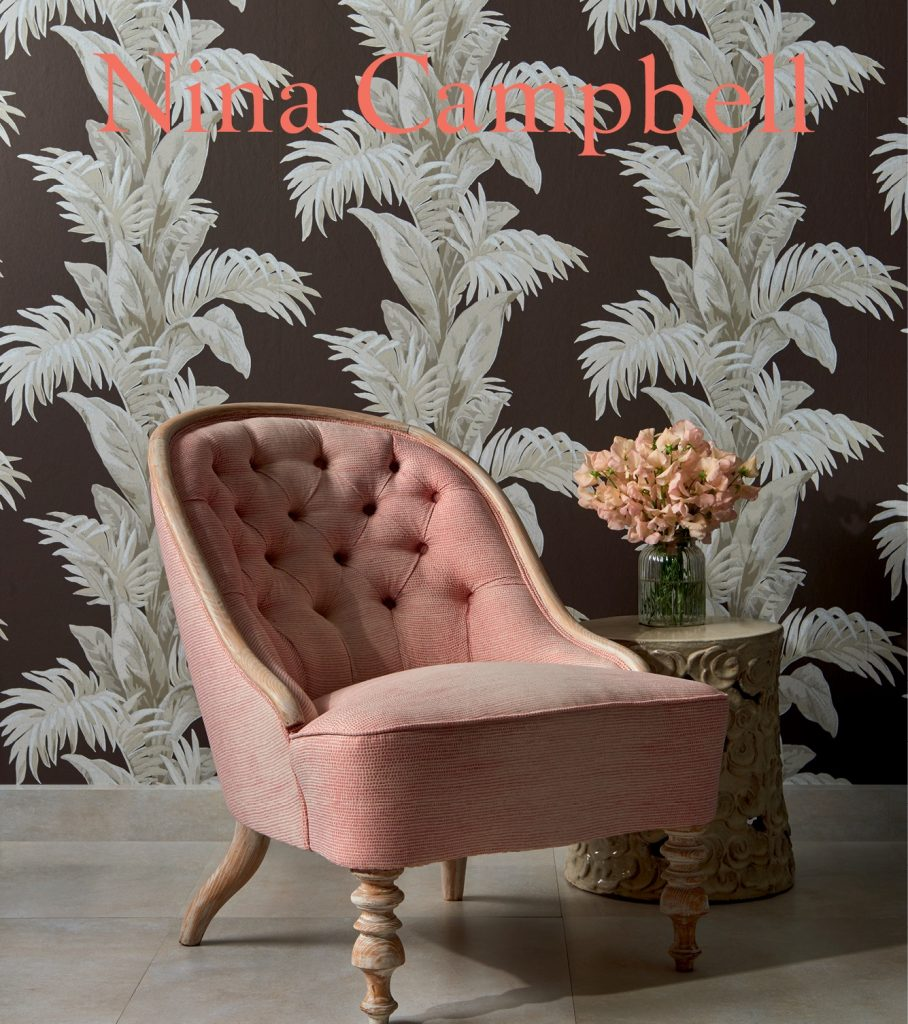 Nina Campbell Palmetto available from Fabric Gallery and Interiors