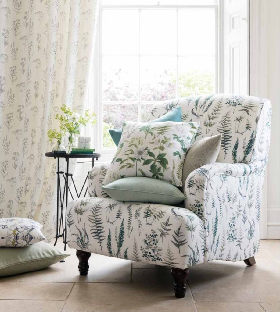 Swaffer Floren fabric available from Fabric Gallery and Interiors, York , Yorkshire