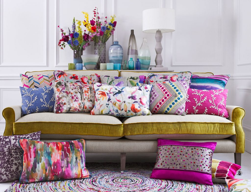 Voyage Iridescence fabrics available from Fabric Gallery and Interiors