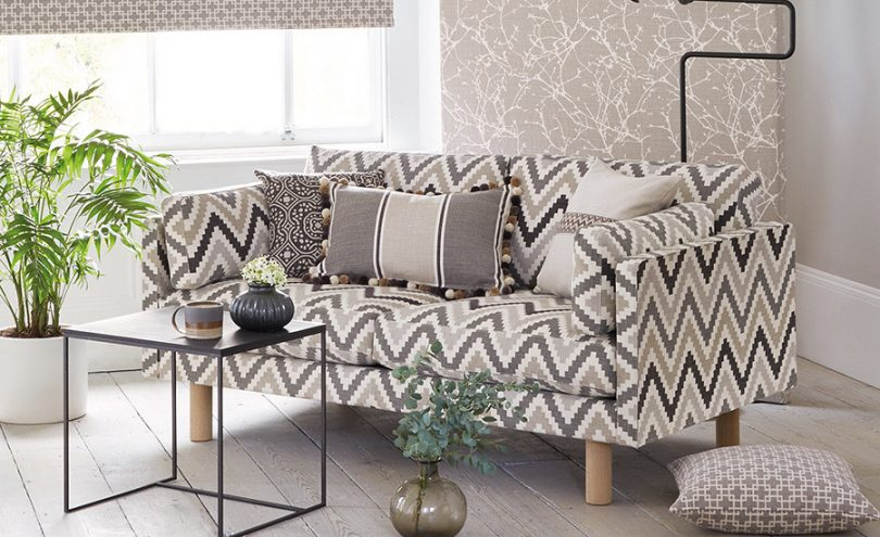 Cubis fabric by Romo from Fabric Gallery and Interiors