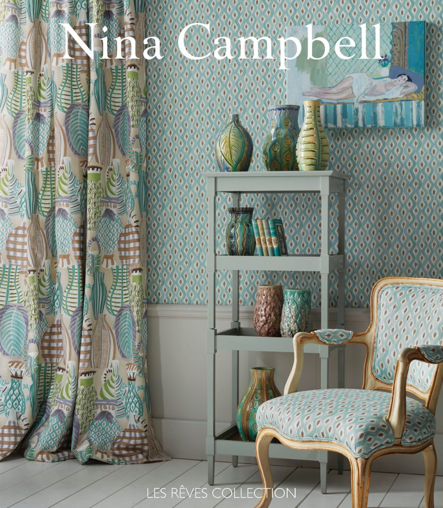 Nina Campbell Les Reves Collection available from Fabric Gallery and Interiors