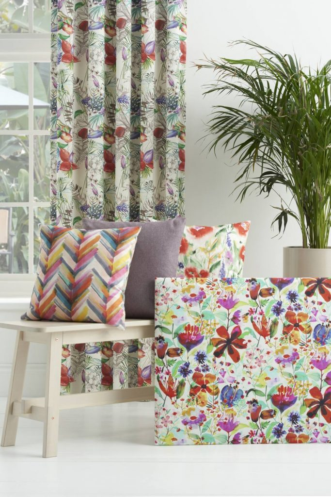 Jardin fabric collection by Chess Designs available from Fabric Gallery and Interiors