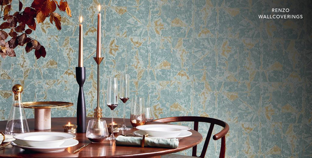 Renzo Wallcoverings by Villa Nova available from Fabric Gallery and Interiors