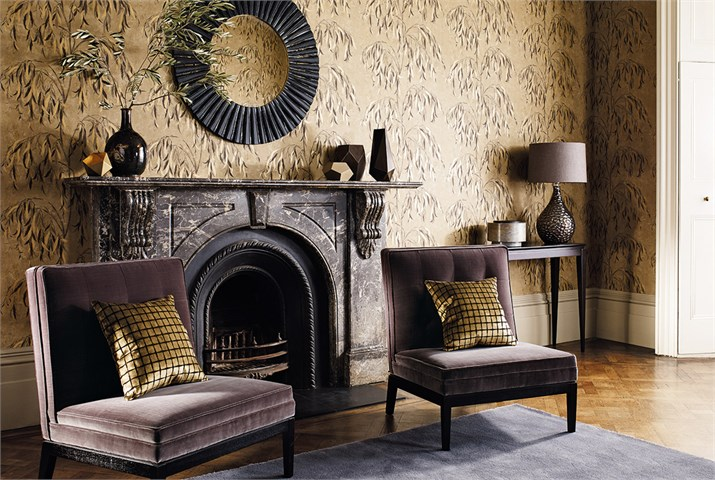 Akaishi wallcoverings by Zoffany from Fabric Gallery and Interiors
