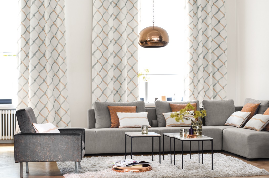 Casadeco curtains from Fabric Gallery and Interiors
