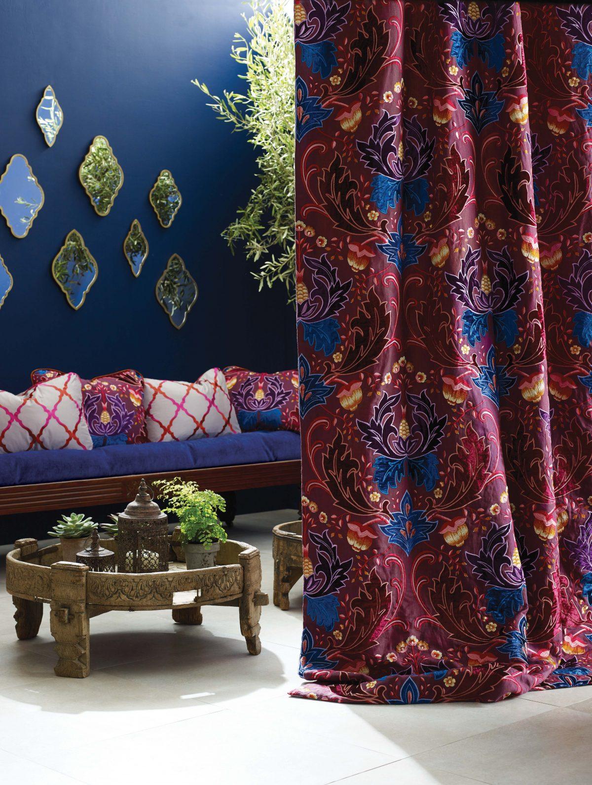 Matthew Williamson Durbar Curtains from Fabric Gallery & Interiors