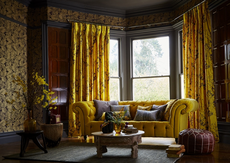 Curtains in Harlequin Callista fabric from Fabric Gallery and Interiors