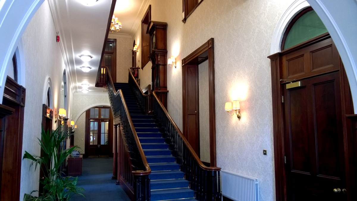 Melbourne House public hallway and main staircase - photo