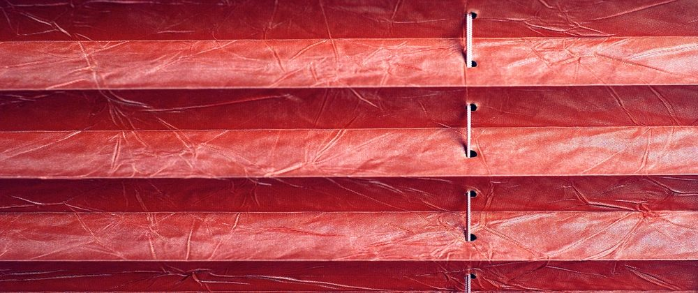 Image of pleated blinds