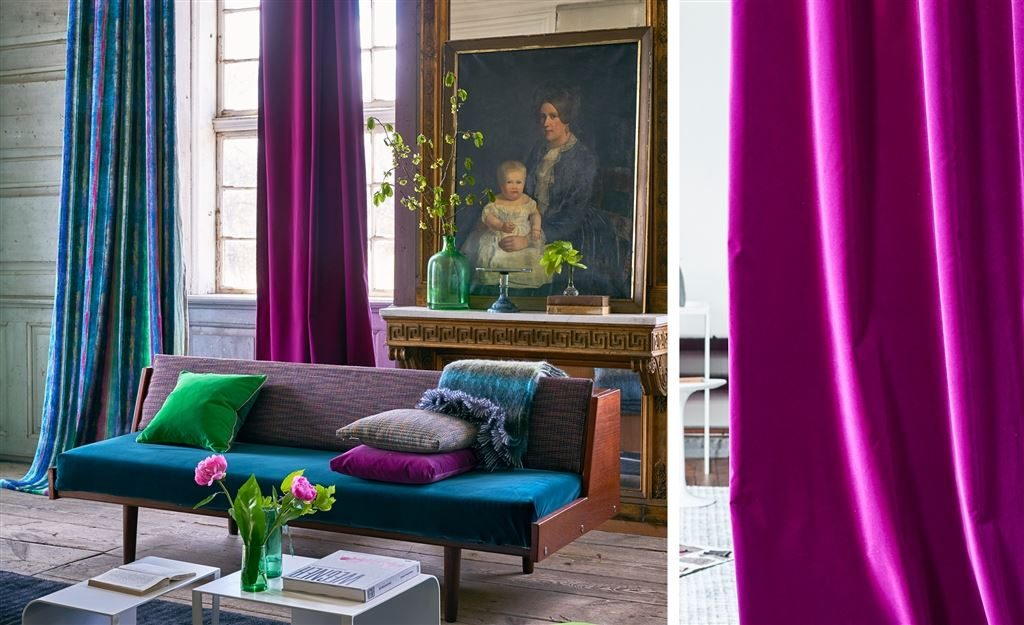 Curtain makers in York, Fabric Gallery & Interiors create curtains in Designers Guild Varese fabric