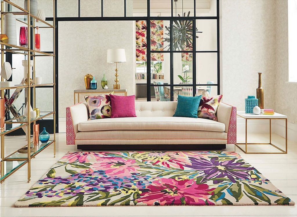 Harlequin Floreale rug available from Fabric Gallery and Interiors