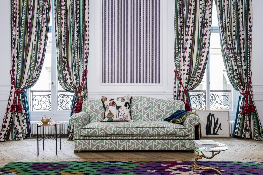 York curtain shop, Fabric Gallery & Interiors designs curtains in Pierre Frey fabric