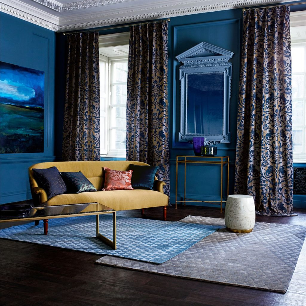 York curtain shop, Fabric Gallery & Interiors create curtains in Zoffany Phaedra Landseer fabric