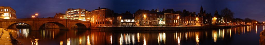 Panoramic nighttime York - come and visit the beautiful city of Yorrk