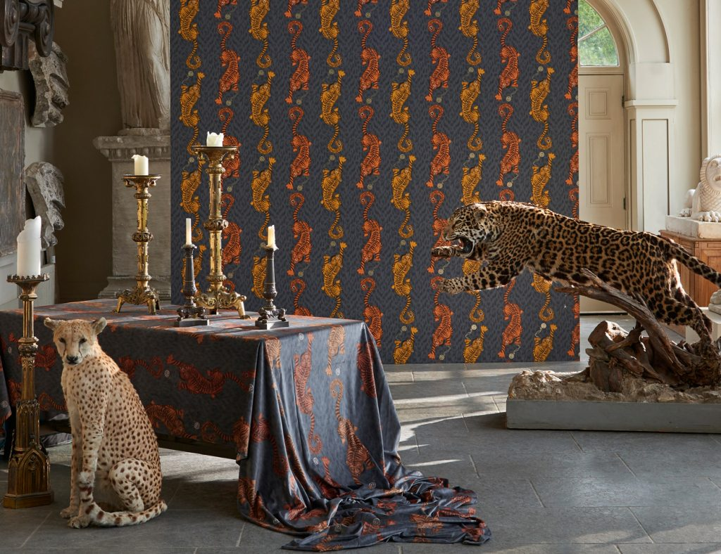 Animalia wallpaper by Clarke and Clarke available from Fabric Gallery and Interiors