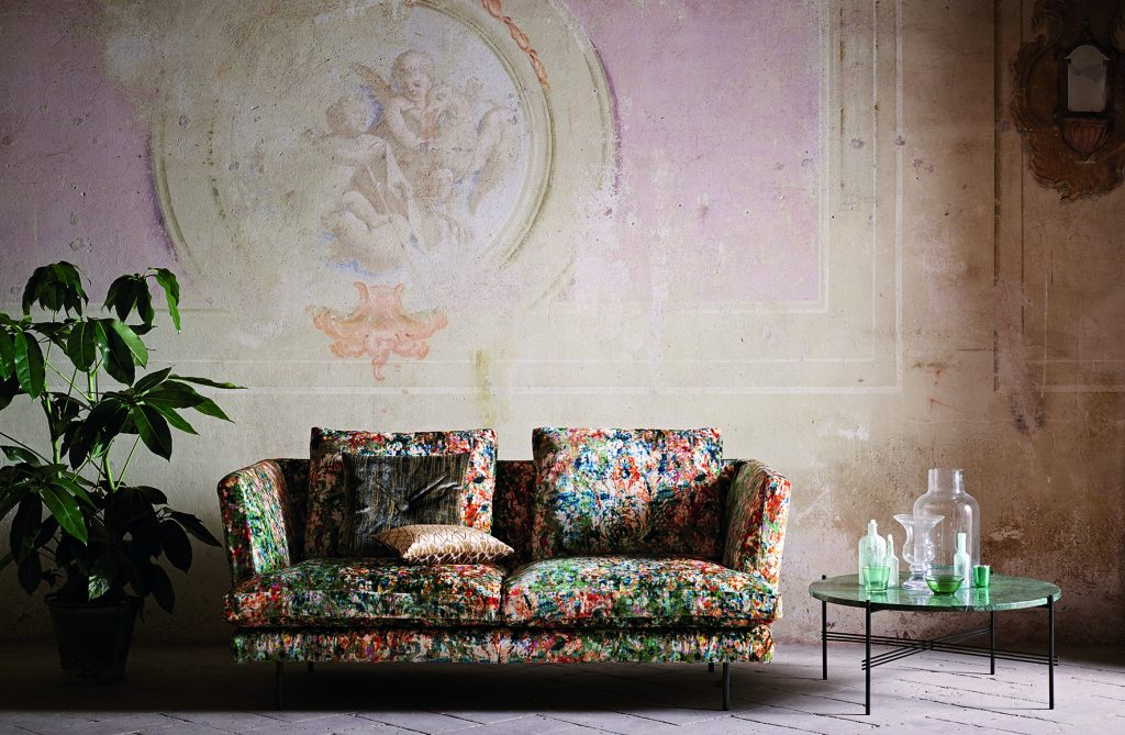 Herbaria fabric from Black Edition available from Fabric Gallery and Interiors