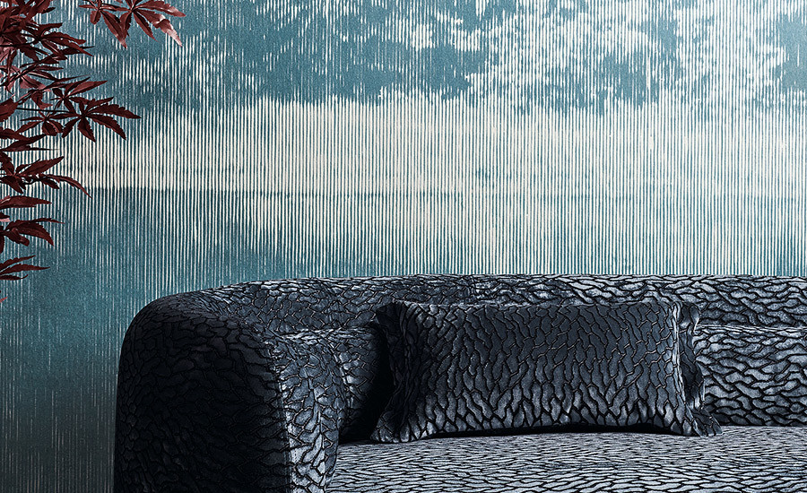 Black Edition Mizumi wallpaper available to buy from Fabric Gallery & Interiors