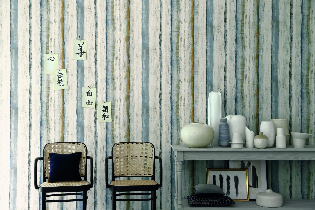 Estampe wallpaper by Casamance from Fabric Gallery and Interiors