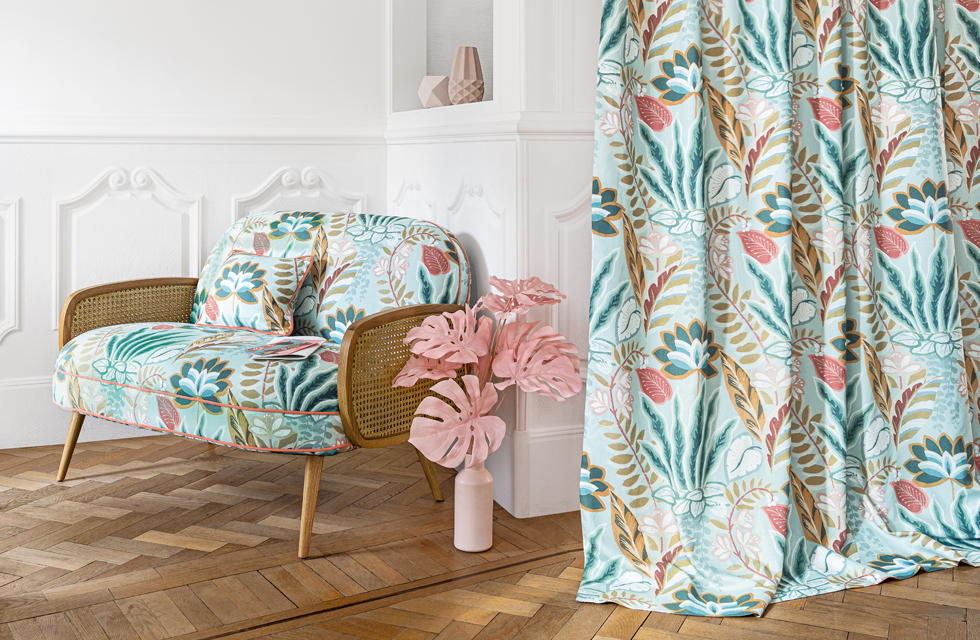 Camengo Hawaii fabric collection available to buy from Fabric Gallery and Interiors