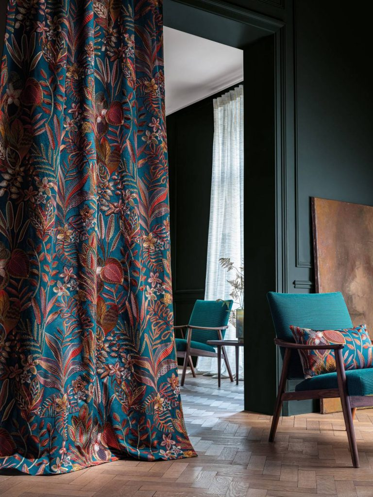 Casamance Flores collection available from Fabric Gallery & Interiors