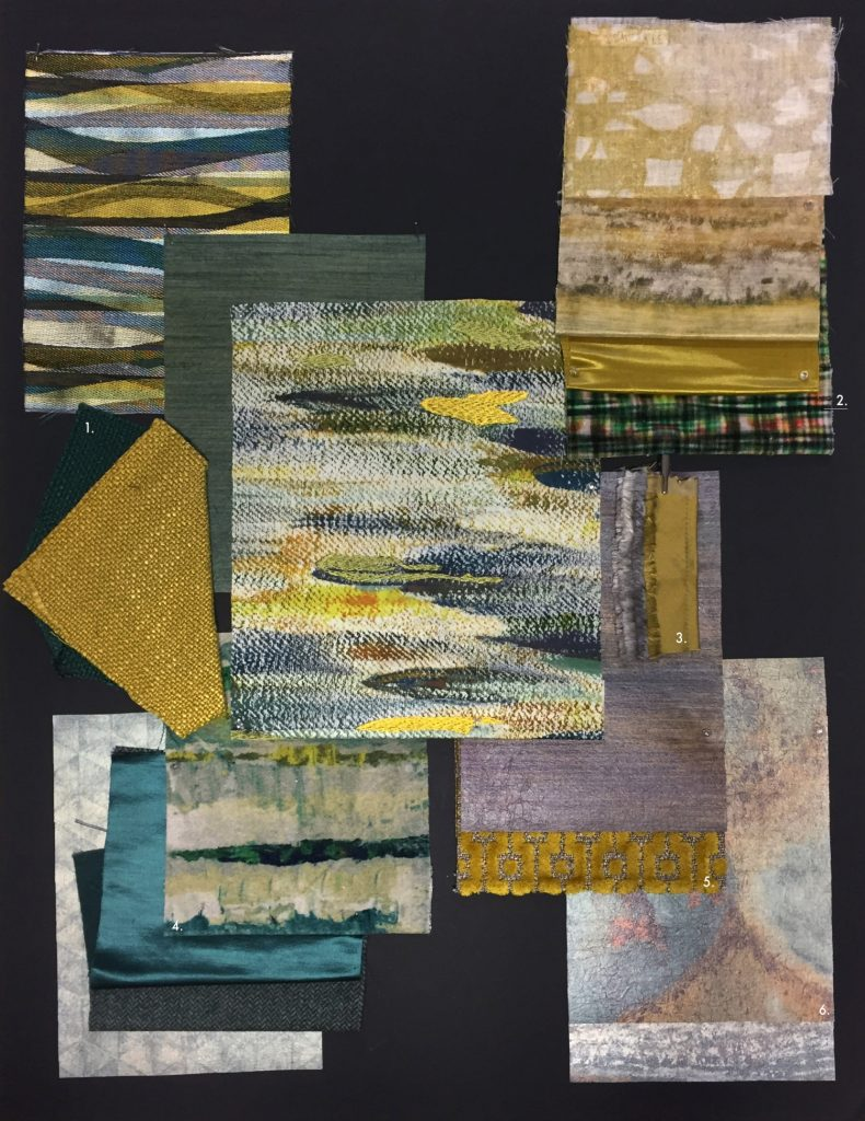 Casamance moodboard fabrics and wallpapers from Fabric Gallery and Interiors