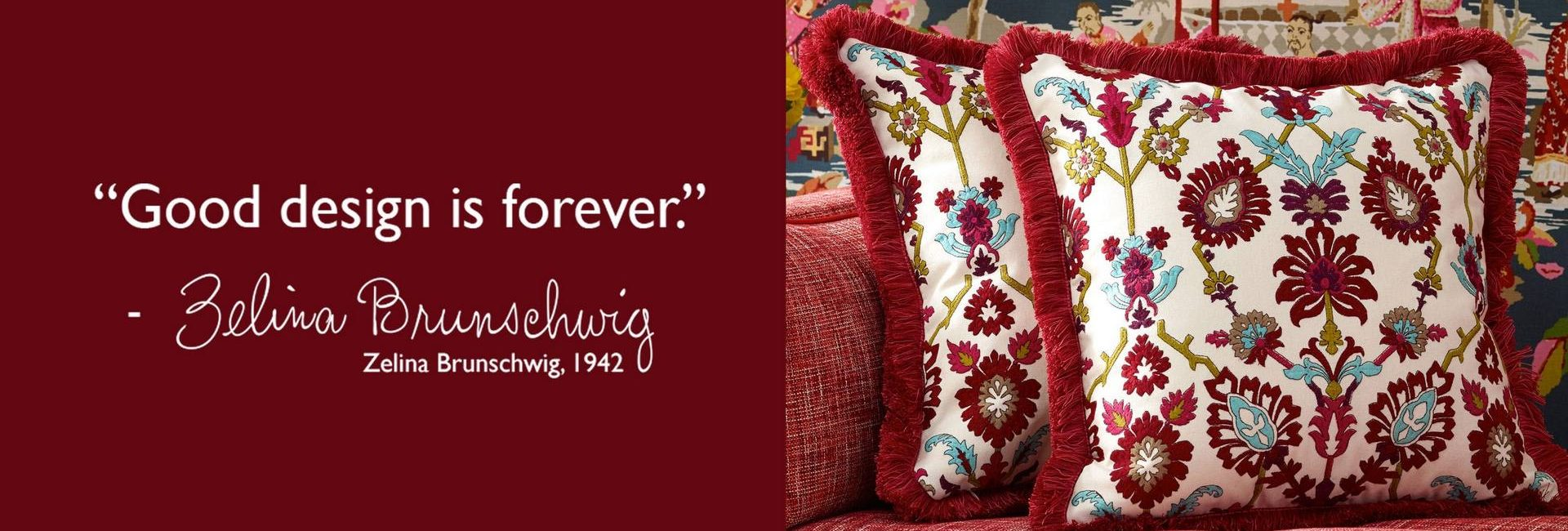 Brunschwig and Fils where good design is forever - available from Fabric Gallery and Interiors in Dunnington, York