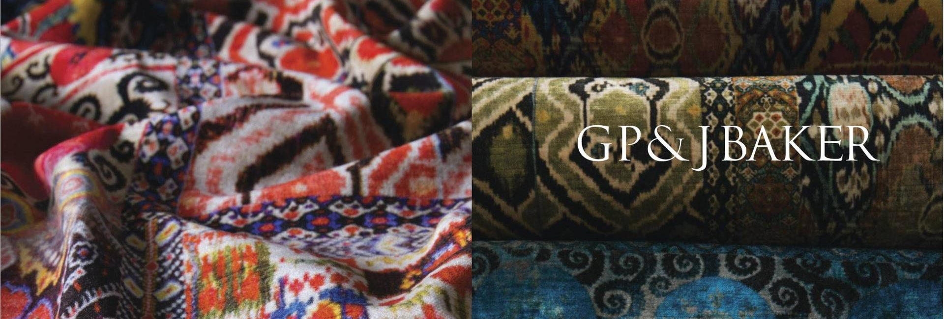 GP&J Baker East meets West collection of fabrics - available from Fabric Gallery and Interiors in Dunnington, York
