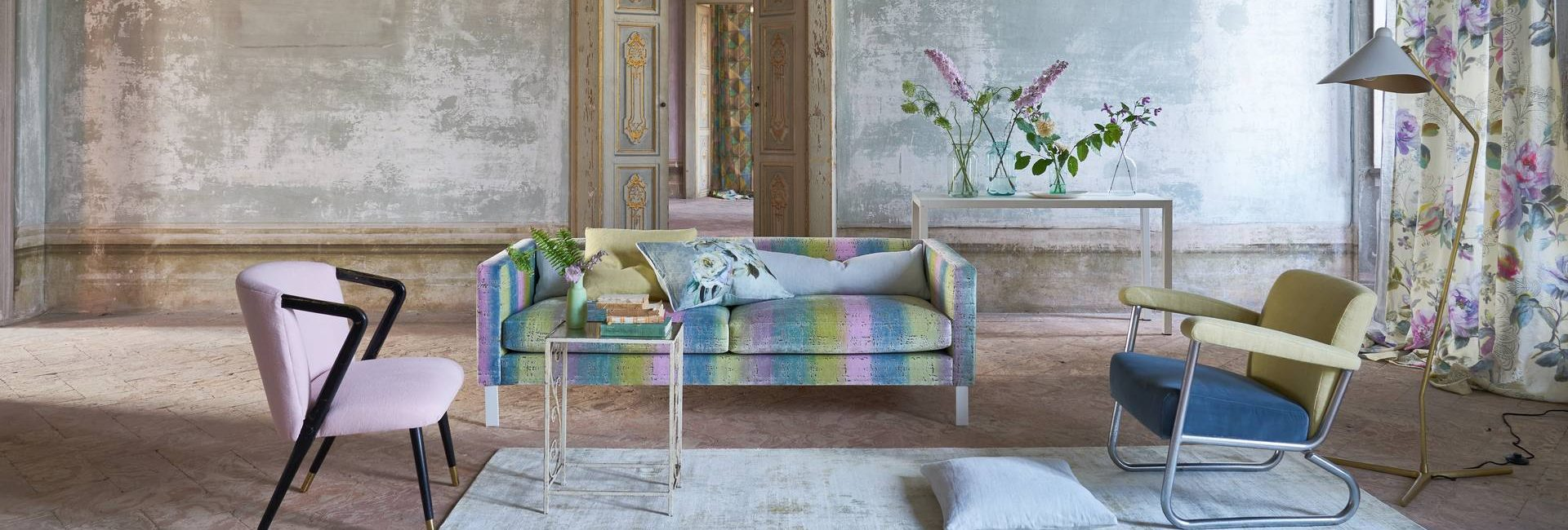 Designers Guild Chateau fabric collection; rugs, fabric, upholstery and curtains - available from Fabric Gallery and Interiors in Dunnington, York