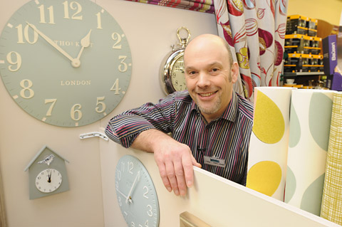 First York Lifestyle Exhibition - The Fabric Gallery & Interiors stand - Steve is waiting to welcome visitors