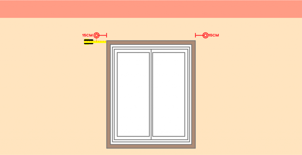 How To Fit Curtain Poles Free Advice, How To Measure A Window For Curtain Pole