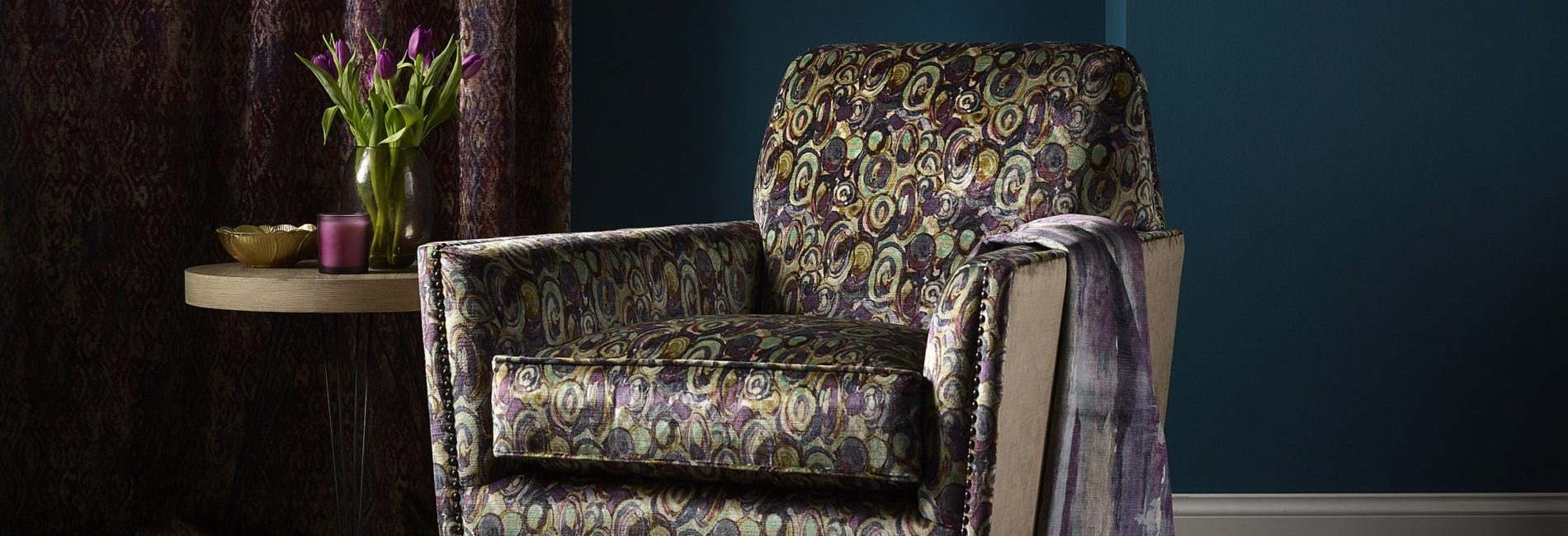 Weymss Fabrics New Decade fabric collection - available from Fabric Gallery and Interiors in Dunnington, York