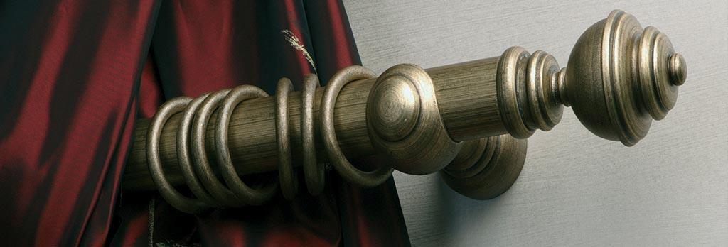 Byron and Byron wooden curtain pole - visit Fabric Gallery & Interiors for a huge selection