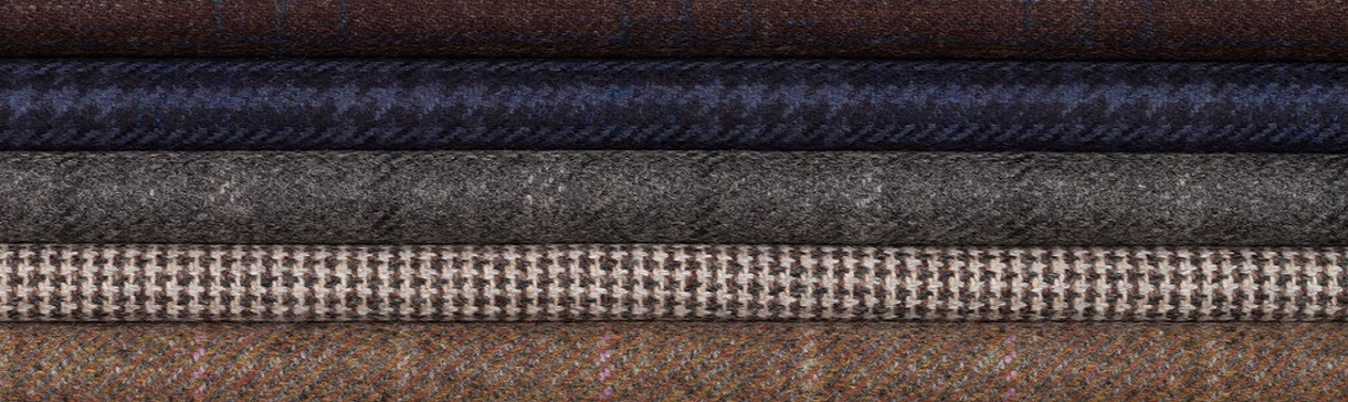Cashmere woollen fabrics by Johnston of Elgin available from Fabric Gallery and Interiors, York