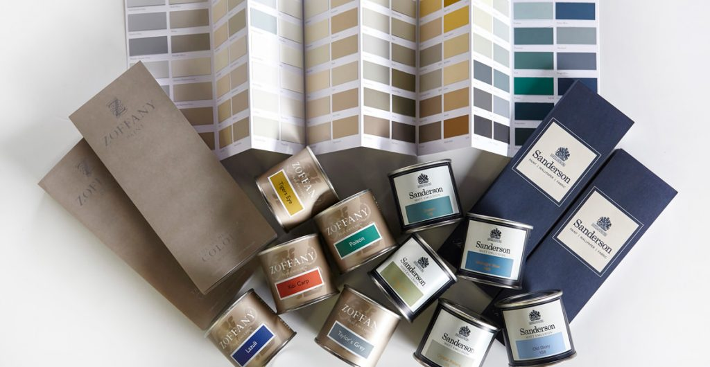 Sanderson and Zoffany paint sampling