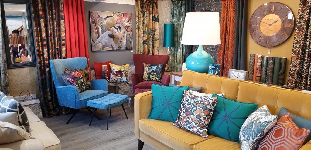 Share our Showroom from abroad at Fabric Gallery & Interiors