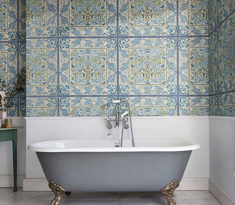 WILHELMINA Bathroom Wallpaper Morris & Co
