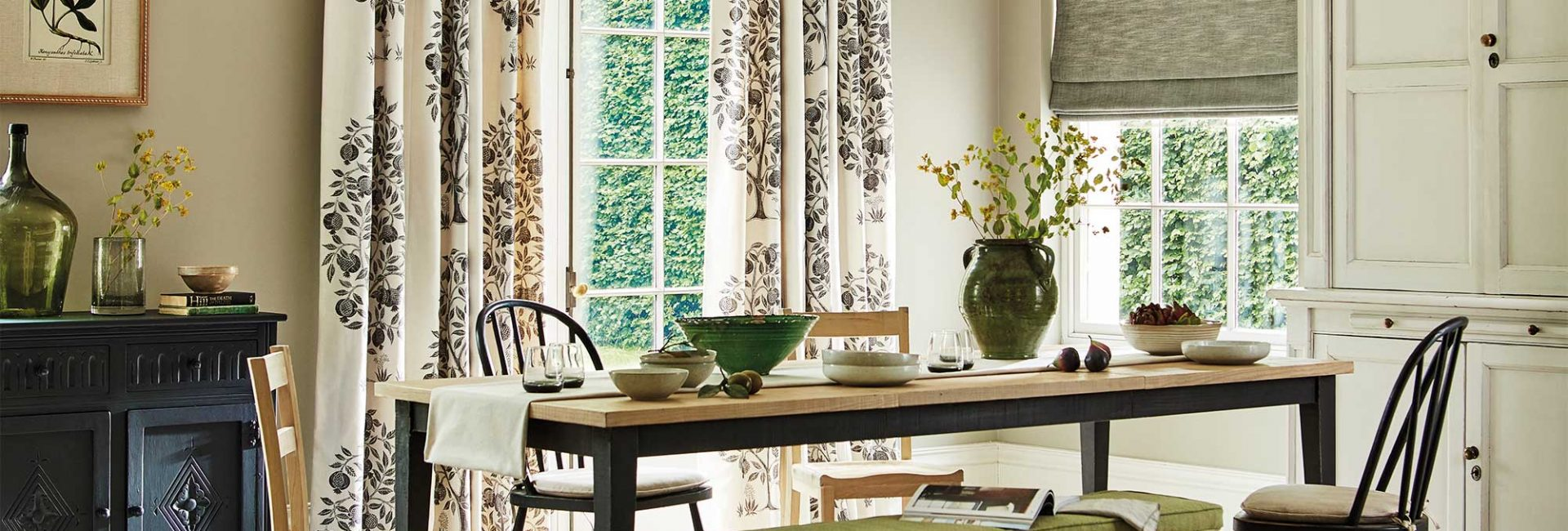 Sanderson Caspian Anaar Tree curtains - new for Spring 2020