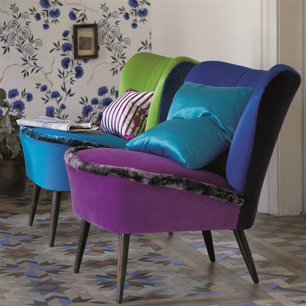 Chairs upholstered in Designers Guild Varese velvet available from Fabric Gallery & Interiors