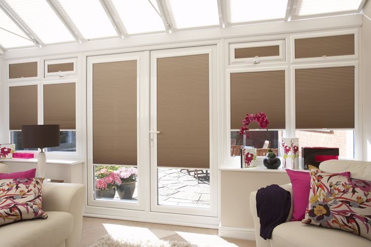 pleated blinds in a conservatory - image