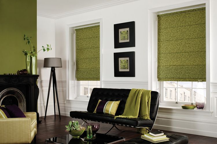 roman blinds in a lounge - image