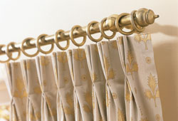triple pleat curtain heading - photo