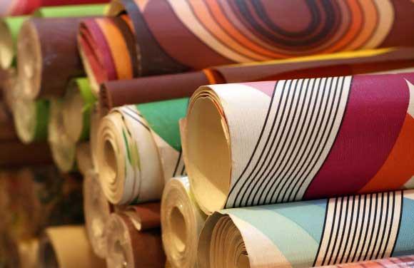 designer wallpaper from fabric gallery interiors. Black Bedroom Furniture Sets. Home Design Ideas